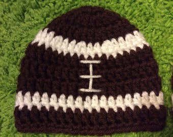 Football Crocheted Newborn Hat