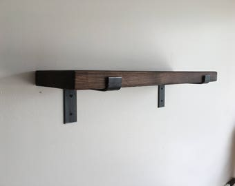 Modern Industrial Shelf, Industrial Shelves, Rustic Shelf, Rustic shelves, Iron Brackets