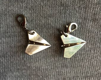 Paper Airplane Progress Keepers | Paper Airplane Charms