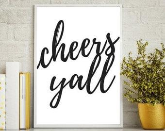 Cheers Ya'll - Wall Art