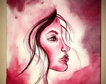 Original woman painting