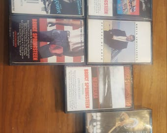 Vintage Lot of 10 Bruce Springsteen Cassettes