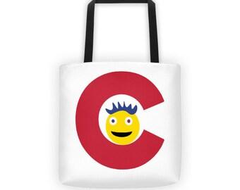 Happy Colorado C Emoticon Tote bag