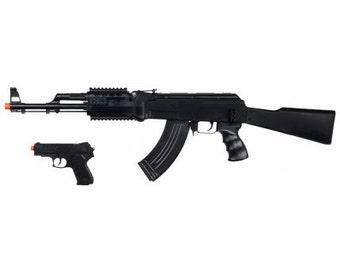 UKARMS P1247 Spring Airsoft Gun Combo Set AK-47 Bonus Pistol