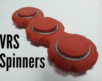 Knurled Bar Spinner Fidget Toy Hand Finger Spinner Focus Tool Red