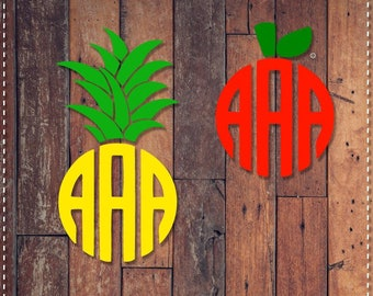Pineapple or Apple Vinyl Decal