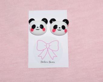 Kawaii Panda Stud Earrings