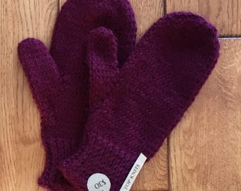 Women's Size Small-Burgundy Mitts