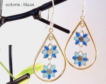 """Enamel on silver pendants """"spring flowers"""""""