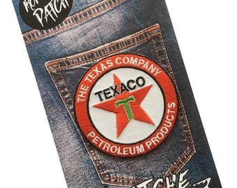 Texaco Embroidered Iron On Patch