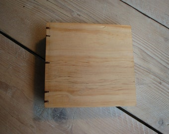 Handmade wooden sketch book