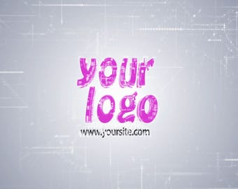 Logo from drawing schemes, Video Intro or Outro