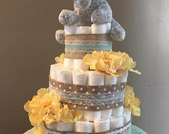 Stuffed Animal Diaper Cake