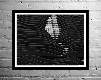 Architecture Photography, Black and White Photography, Chicago - Waves