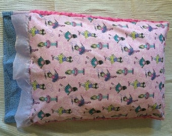 Minky dancers pillowcase