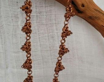 Filigrane Chainmaille Halskette Byzantine Dreieck