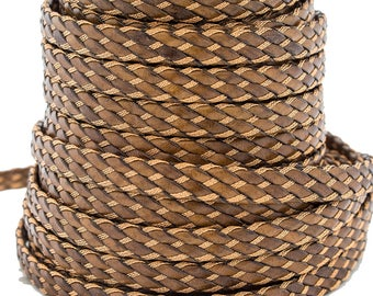 Braided Leather with Thread 10MM