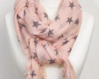 Knitwear star Micromodal Haltuch pink grey scarf