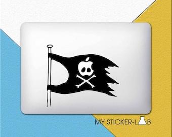 Pirate Flag MacBook Decal Pirate Flag MacBook Sticker Pirate Ship Decal Skull and Crossbones Sticker Pirate Flag Mast Vinyl Decal m219
