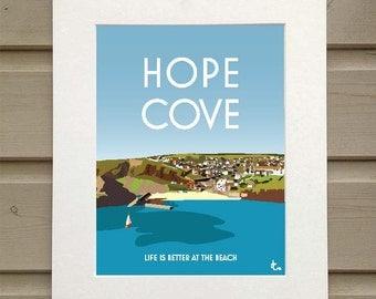 A4 print of Hope Cove, Devon