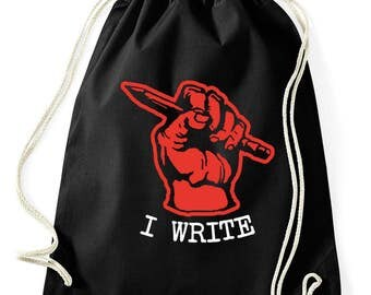 I write writer literature gymnastics bag