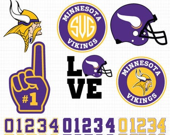 Minnesota Vikings- Cuttable Design Files (SVG, EPS, JPG) For Silhouette Studio, Cricut Design Space, Cutting Machines,Instant Download