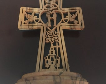 Wooden Matrimony Cross