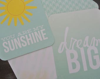 You Are My Sunshine Project Life Cards , project life , becky higgens , crafts , scrapbooking , journaling