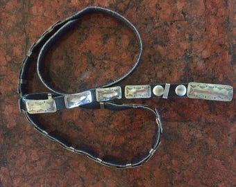 Vintage Concho Belt, Handmade Silver Concho Belt, Vintage Sterling Silver Belt, Concho Belt Vintage, Women's Concho Belt, Silver Concho Belt