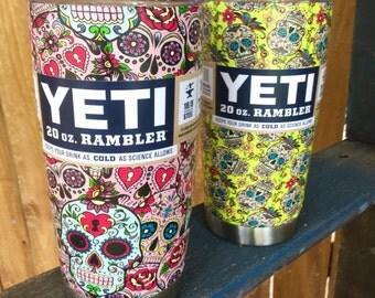 Custom Hydro-dipped Yeti cups 20oz.