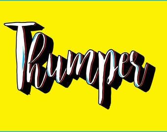 Premade Logo.Typography. Business Branding. Marketing Logo. Advertising. Illustrator. Pop Art Graphic. OOAK. Digital Advertising design