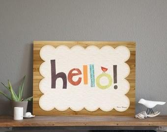 "40% OFF Hello Sign Wall Art Print 14x11"""