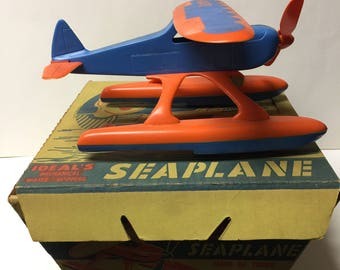 Vintage Ideal's wind up seaplane toy