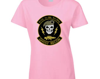 Ghost Recon Wildland's Women's Ladie's T-Shirt (Light Pink, New, Gaming, Gamer T-Shirt, Tee)