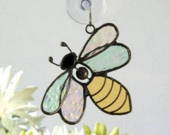 Stained Glass Bee Window Ornament