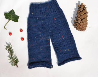 Trouser made of socks yarn - Waldorf doll clothes Steiner doll clothes Waldorf doll trouser Steiner doll trouser knit knitwear tweed yarn