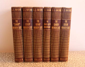 S.S. Van Dine 6 volume Collier book set