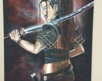 samari girl painting