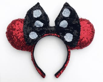 Minnie Mouse ears , Minnie Mouse inspired ears, Minnie Mouse