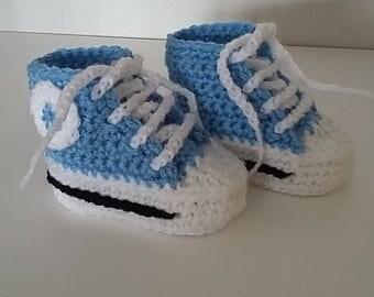 Crochet baby high tops