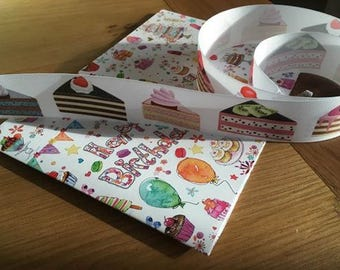 Cake grosgrain ribbon, 39mm wide, by 1m length