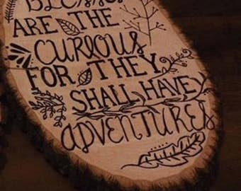 Adventurous Wooden sign