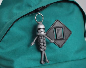 Stormtrooper from  Star Wars Captain Phasma paracord keychain
