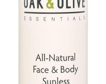 Oak & Olive Essentials All-Natural Face and Body Sunless Tanning Lotion - Dark Formulation