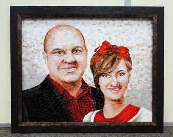 Individual Mosaic Portrait – Unique Decor for your home