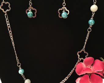 Necklace and earrings stainless steel, free shipping!