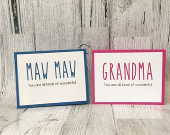 MAW MAW Card for Mother's Day or Birthday | GRANDMA Card for Mother's Day or Birthday | Rae Dunn Inspired