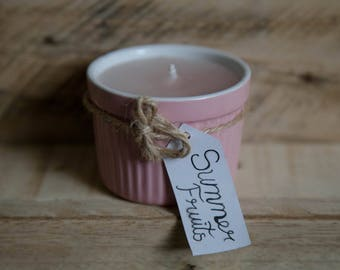 Summer Fruits Scented Candle - Ramekin