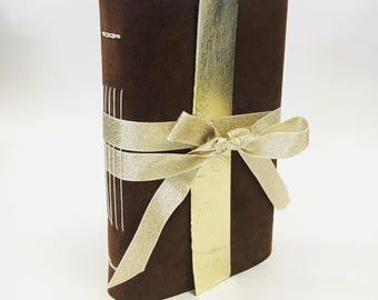 Upcycled Suede Journal, notebook, sketchbook