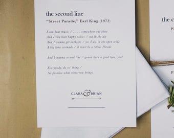Custom Second Line Handkerchief Card – Digital Download